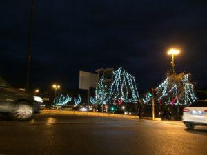 フィレンツェの街は、いま、ライトアップされている