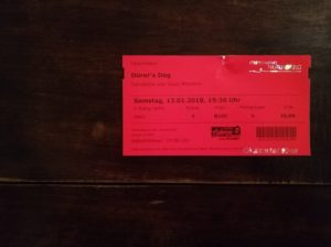 Durer's Dog の公演チケット