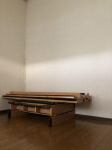 解体されたベッド2